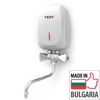 Электрический водонагреватель проточный Tesy IWH 35 X02 KI (3,5 кВт) со смесителем