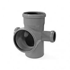Крестовина 2-плоскостная канализационная Valsir HTED Ø110/50/110/50x87°, 512037