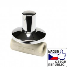 PP-R Вентиль под штукатурку проходной с металлической крышкой под трубу 20мм, Wavin Ekoplastik, SVEPLK020X