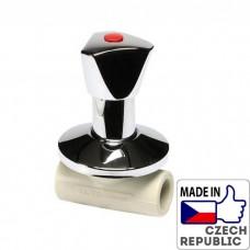 PP-R Вентиль под штукатурку проходной с металлической рукояткой под трубу 20мм, Wavin Ekoplastik, SVEPLR020X