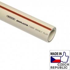 PP-RCT Труба Fiber Basalt Plus S3,2/PN28/SDR7,4 диаметром 40х5,5мм, L=4м, Wavin Ekoplastik, STRFB040TRCT