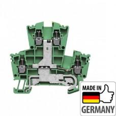 1036300000 Клемма двухуровневая защитного заземления WDK 2.5PE, 2,5 мм.кв