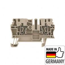 1608510000 Клемма проходная с пружинным соединением Weidmuller ZDU 2.5, 2,5 мм.кв