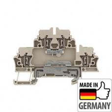 1689970000 Клемма двухуровневая ZDK 2.5DU-PE, 2,5 мм.кв