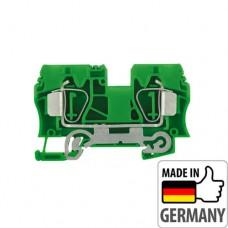 1746770000 Клемма заземления с пружинным соединением Weidmuller ZPE 10, 10 мм.кв