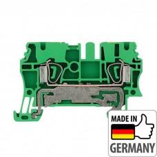 1608640000 Клемма заземления с пружинным соединением Weidmuller ZPE 2.5, 2,5 мм.кв