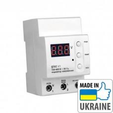 Цифровой индикатор напряжения на DIN-рейку ZUBR glaz V1, 100–400В