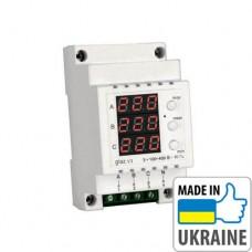 Трехфазный цифровой индикатор напряжения на DIN-рейку ZUBR glaz V3, 100–400В