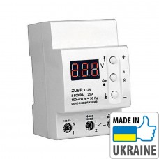 Однофазное реле контроля напряжения ZUBR D25, 25А