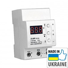 Однофазное реле контроля напряжения с термозащитой ZUBR D25t, 25А