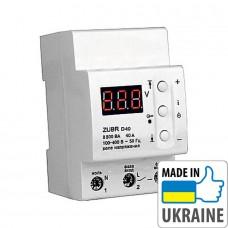 Однофазное реле контроля напряжения ZUBR D40, 40А