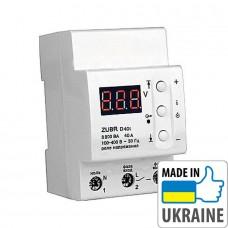 Однофазное реле контроля напряжения с термозащитой ZUBR D40t, 40А