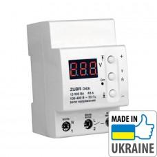 Однофазное реле контроля напряжения с термозащитой ZUBR D63t, 63А