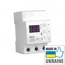 Однофазное реле контроля тока с термозащитой ZUBR RET I25, 25А