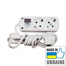 Однофазное реле контроля напряжения вилка-розетка ZUBR R216y, 16А, 3кВт