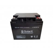 Аккумуляторная батарея SolarX SXA 40-12 (технология AGM)