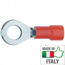BM00101 Кабельный наконечник кольцевой с изоляцией, сечение 0.25-1.5 мм, М2.5