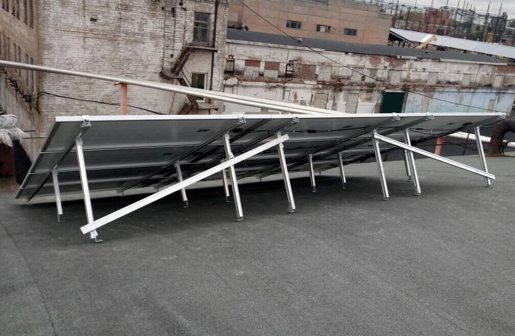 Солнечные панели 12 ед. С&T Solar 285W poly вид сзади